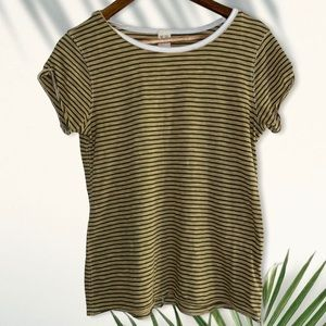 We the free striped short sleeve shirt